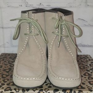Nine West Suede Leather LaceUp Ankle Boot 9.5